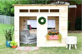 backyard playhouse backyard playhouse plans free