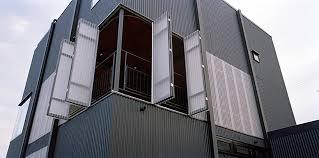 corrugated sheet house designboom 08