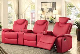 inexpensive home theater seating. Homelegance-talbot-triple-reclining-theater-seating-budget-home- Inexpensive Home Theater Seating Y