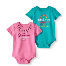 Walmart Baby Girl Clothes Mesmerizing Attitude Baby Girl Short Sleeve Bodysuits 32pack Walmart