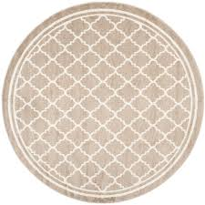 unique 9 foot round rug safavieh amherst wheat beige ft x indoor outdoor area