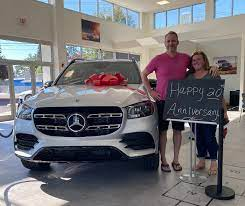 Tim And Pam Williams Just Treated Themselves To A Brand New Car Your New New 2020 Mercedes Benz Gls 580 Was A Great Choice Mercedes Benz Car Dealership Benz
