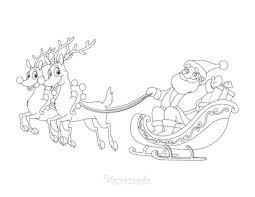 Reindeer tangled in christmas lights. 100 Best Christmas Coloring Pages Free Printable Pdfs