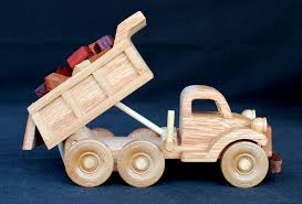 working dump truck from the plump n tuff woodworking plan set car wood