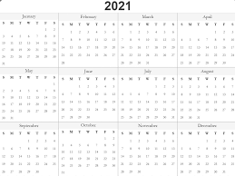 Calendar Template With Picture Free 2021 Printable Monthly Calendar With Holidays Word Pdf