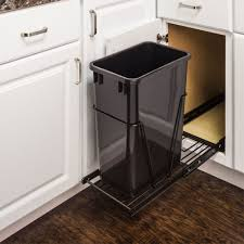 pullout trash can. Simple Trash Single Trash Can Pullout 15 Inch Cabinet For 2