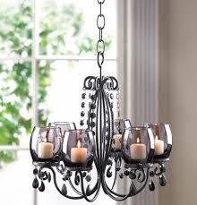black hanging crystal chandelier candelabra candle holder to enlarge