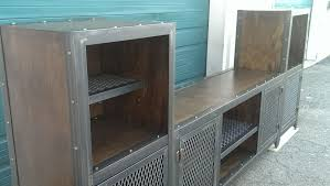 buy a hand crafted industrial entertainment center made to order