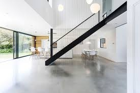 Concrete Flooring Kitchen Lovely Modern Residential Architecture In Canada Featuring Floor
