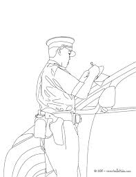 Police Officer Coloring Pages To Print Policeman Coloring Page