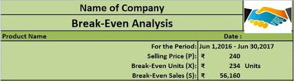 Break Even Excel Template Cool Download BreakEven Analysis Excel Template ExcelDataPro