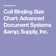 Coil Binding Size Chart Advanced Document Systems Supply