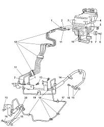 2005 dodge ram 1500 hcu lines and hoses brake front diagram 00i89947