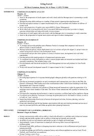 Banking Resume Sample Corporate Banking Resume Samples Velvet Jobs 20