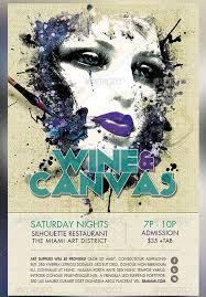 Art Event Flyer Wine And Canvas Art Event Flyer Template Art Flyer