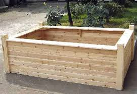 wooden seating raised bed
