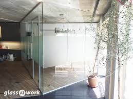 office glass door glazed. Acoustic Single Glazed Glass Office Partitioning Door