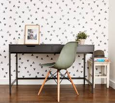 wallpaper for home office. Home Interior Design, Wallpaper Accent Walls Quirky Colorless An To The Office For A