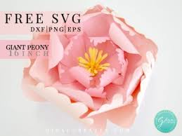 Svg files for scan and cut svg files for cricut crafts to make diy crafts silhouette cameo projects svg cuts doilies free design. Peony Giant Paper Flower Free Svg Cut File Gina C Creates