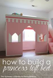 Princess Bed Blueprints Remodelaholic How To Build A Princess Castle Loft Bed