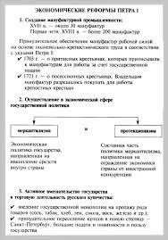 Тема Схема Экономические реформы Петра i