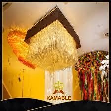 hotel decoration crystal square chandelier lamp ka229