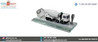 desk gift items dubai custom made crystal award with lifelike model of concrete mixer truck custom gift bo supplier dubai abu dhabi uae sharjah