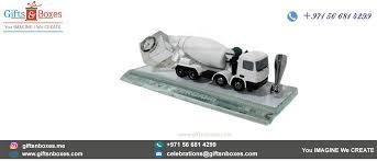 desk gift items dubai custom made crystal award with lifelike model of concrete mixer truck custom gift bo supplier dubai abu dhabi uae sharjah