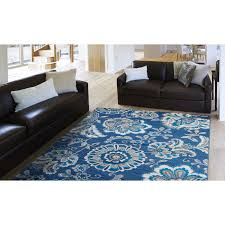Navy Rug Living Room Andover Mills Tremont Navy Blue Ivory Area Rug Reviews Wayfair