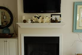 fireplace mantel with tv decorating ideas20 decorating