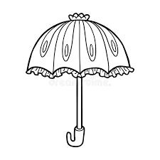 coloring book for children umbrella stock vector ilration of princess page