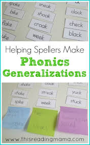 Phonics Generalizations Chart Helping Spellers Make Phonics Generalizations Teaching 1st