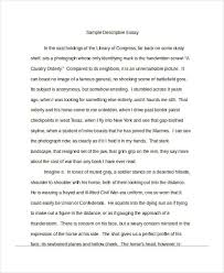 of writing templates descriptive essay example