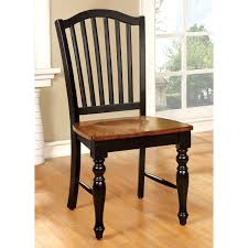 Black Wood Dining Chairs Home Styles Black Cottage Oak Dining Chair Set Of 2 Hayneedle
