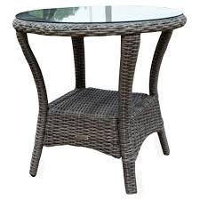 tortuga outdoor bayview wicker side table driftwood finish