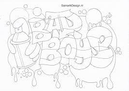 Niewu Kleurplaten Love Graffiti Kleurplaat 2019