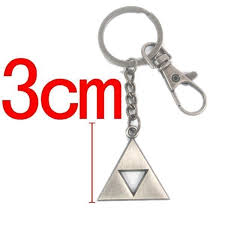 legend of zelda a link to the past silver triangle pendant key chain