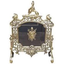 antique fireplace screen. english brass britannia sphinx \u0026amp; armored fire screen, circa 1820 antique fireplace screen r