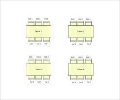 Reception Table Seating Chart Template Bismi
