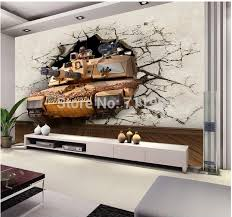 Customized Photo Wallpaper Military Tank For The Living Room Sofa