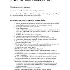 Accounts Payable Job Description Resume Template