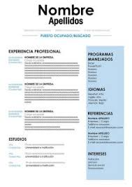 50 Modelos De Curriculum Vitae Para Descargar Gratis En Word