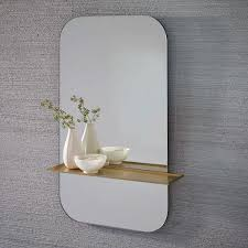 Oval Floating Shelves Inspiration Gold Floating Shelf Wall Mirror