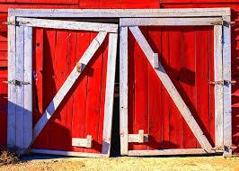 red barn door. Aged Photograph - Red Barn Doors By Ralph Brannan Door M