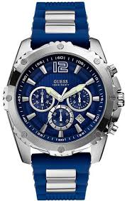 men s blue guess chronograph bold sports watch u0167g3