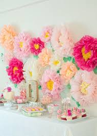 Tissue Paper Flower Wall Art Garden Party First Birthday With The Ultimate Flower Backdrop