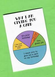 Card Birthday Chart The Birthday Pie Chart Card Birthday Pies Birthday Cards