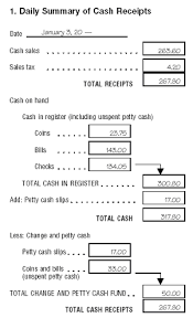 Cash Received Receipt Custom Sample Business Record Keeping System Article By Charles R
