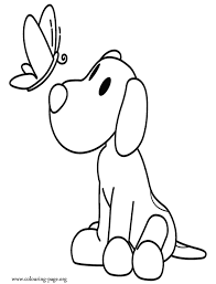 Pocoyo Puppy Loula Coloring Page Coloring Home