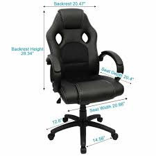 furmax executive racing office chair pu leather swivel computer desk seat pu leather and mesh bucket seat computer lumbar support chair high back pu leather